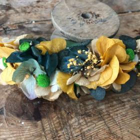 Tocado Back en flor preservada