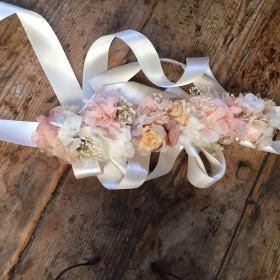 Fajín en Flor preservada en tonos pastel