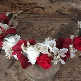 Corona en flor preservada Silvestre