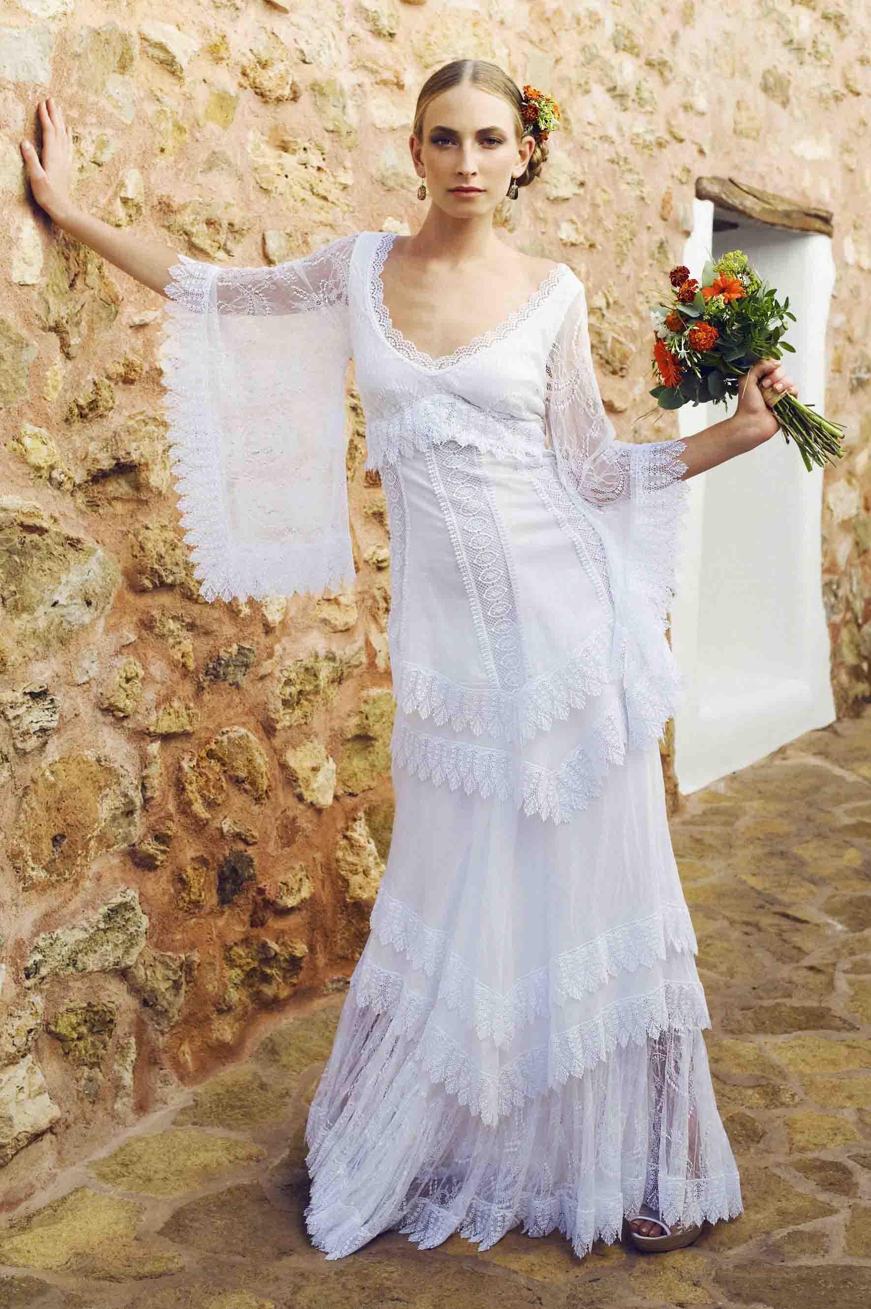 Vestidos de novia en blonda 2015