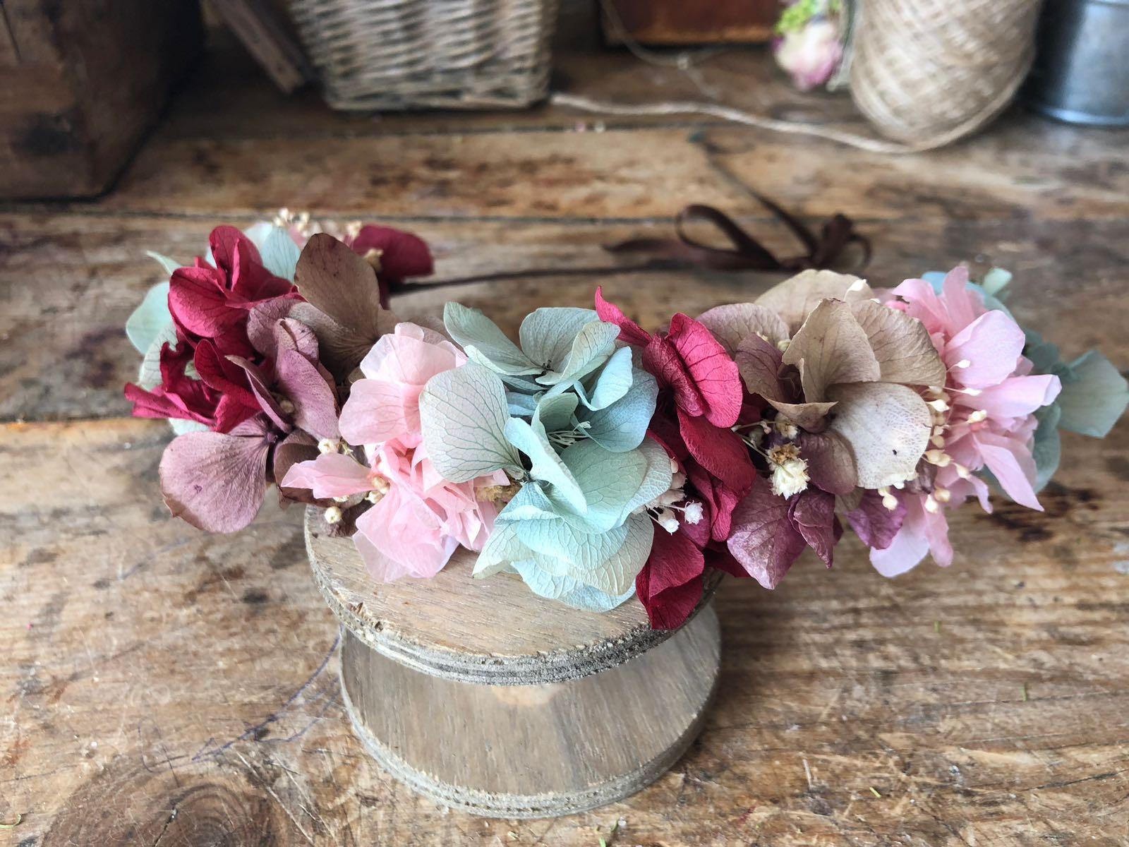 Media Corona niña Silvestre en flor preservada