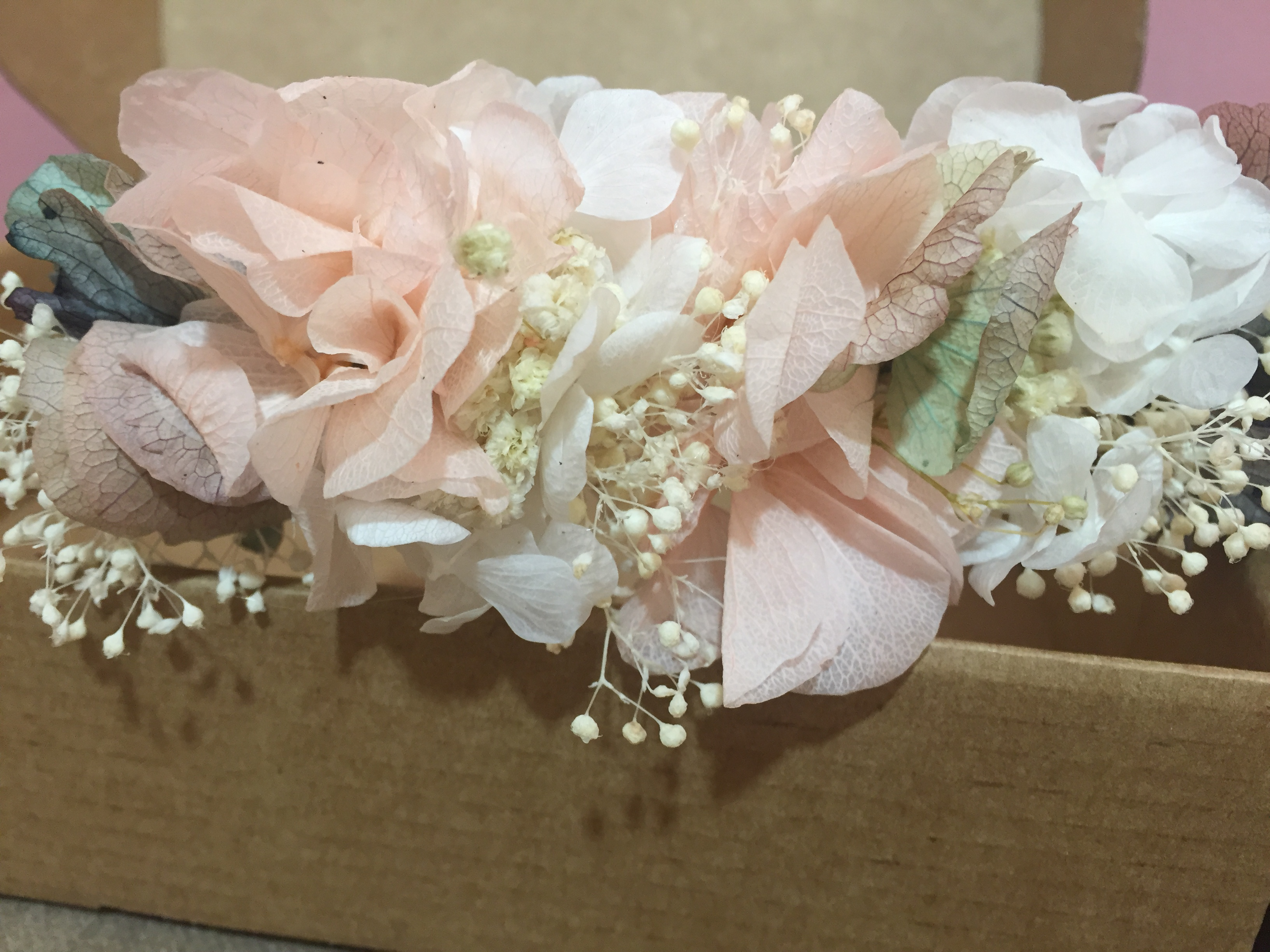 Tocado Floral tonos pastel