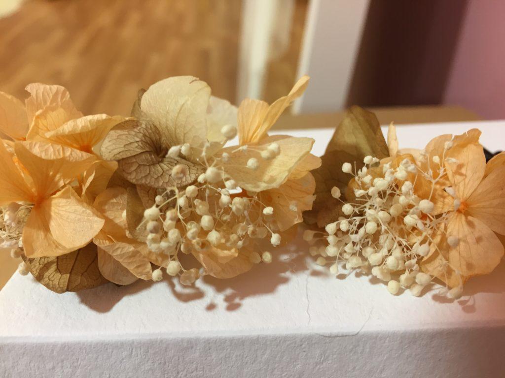 Orquilla Flor preservada tonos pastel